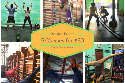 October Promo: 5 Classes for $50